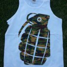 Camouflage Grenade sleeveless tank top Mens white tank top Grenade Tank Top M
