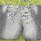 Tetsu Gray wash DENIM JEAN PANTS MEN'S GRAY DENIM JEANS PANTS JEANS 32Wx32L