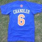 TYSON CHANDLER (#6) ADULT ADIDAS NEW YORK KNICKS JERSEY STYLE TEE SHIRT S