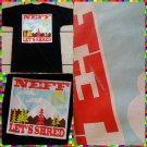 NEFF Black Short sleeve T-Shirt Mens short sleeve skaterter T shirt MED