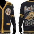 ALPHA PHI ALPHA Black Gold Sweater Alpha Phi Alpha Cardigan Sweater S-4X