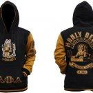 ALPHA PHI ALPHA Black Gold Hoodie Jacket Alpha Phi Alpha Pullover Hoody Jacket