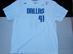 Dallas Mavricks basketball T shirt Dirk Nowitzki 41 Adidas Basketball T shirt 2X