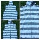 White Gray sleeveless hoodie hoody Zip Up Stripe Hoodie Hoody Vest Jacket M-2XL
