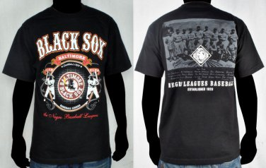 Negro League Baseball T shirt Baltimore Black Sox Negro League Tee shirt  M-4X