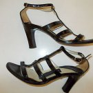 KENNETH COLE BLACK LEATHER HIGH HEEL SHOE PATENT LEATHER HIGH HEEL SHOE 6US