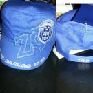 ZETA PHI BETA BLUE WHITE MILITARY STYLE CAP ZETA PHI BETA CADET CAP HAT NWT #2