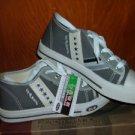 Mens low top sneaker shoe by ZULIBOA gray low top tennis shoe 6US/40EU NIB