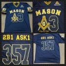 FREEMASON MASONIC FOOTBALL JERSEY MASONIC FREEMASON BLUE GOLD JERSEY M-5X