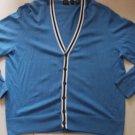 Blue long sleeve Cardigan sweater Madison button up cardigan sweater sweater XL