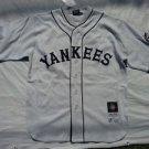 New York Black Yankees Negro League Baseball Gray Cotton Vintage Replica M-4