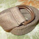Dark Brown cargo twill belt Heavy duty cotton twill belt Unisex belt  34-36W