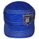 SIGMA GAMMA RHO  MILITARY STYLE CADET HAT CAP BLUE GOLD SIGMA GAMMA RHO HAT #1