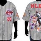 Gray Negro League Baseball Jersey NLBM Commemorative Baseball Jersey  M-5X #2