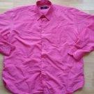 Mens Pink long sleeve button up dress shirt Pink dress Shirt 16-16 1/2  33/34