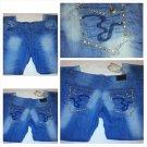 DINAMIT BLUE DENIM JEANS STRAIGHT LEG HIGH END BLUE DENIM JEAN PANTS 44Wx32L