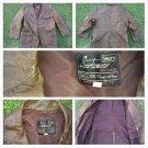 Mens Vintage Brown Long Sleeve Leather Sport Coat Blazer Sears Sportswear 44R