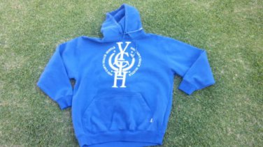 Royal Blue Pullover Hooded Sweatshirts YOUCANTTEACHHUSTLE Pullover Hoody  L