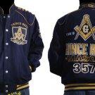 Freemason Mason Masonic Blue Gold Long sleeve jacket Prince Hall Mason Jacket