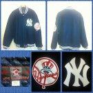 JH Design MLB NEW YORK YANKEES Blue Wool Baseball Jacket  NYC Yankee Jacket 2X