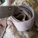 Gray cargo twill belt Heavy duty cotton twill belt Unisex belt 38-40W