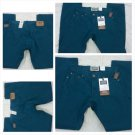 LEVI SIGNATURE BLUE DENIM JEAN PANTS LOW RISE STRAIGHT LEG BLUE JEANS 3OWX32L