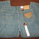 THREE STAR BLUE DENIM JEAN PANTS Relaxed fit denim blue jean pants 40Wx30L