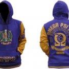 OMEGA PSI PHI Purple Gold Hoodie Jacket Q-DOG OMEGA Pullover Hoody Jacket  M-5X