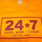 Los Angeles Laker's 2007 All-star Kobe Bryant  Lamar Odom T shirt Vingtage