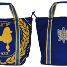 SIGMA GAMMA RHO BLUE CANVAS BAG GYM BAG TOTE YOGA SPORTS SORORITY GYM BAG PURSE