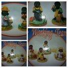 African American Black figurine set Working Team Negro Field Worker Figurine Set