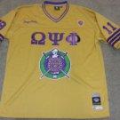 Omega Psi Phi Gold short sleeve football jersey Q DOG GOLD JERSEY OMEGA PSI PHI