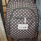 Black White back pack by PRO CLUB white back pack travel shoulder bag Star Print