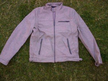 21 MEN Brown long sleeve biker inspired jacket Relax Fit Casual tan Jacket L