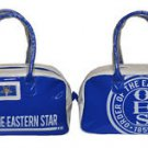ORDER OF EASTERN STAR BLUE WHITE TOTE BAG YOGA SPORTS SORORITY GYM BAG PURSE