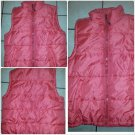 Mens Red Sleeveless Vest Jacket Mens Red Casual Bubble Vest jacket Big 2X-3X