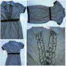 Derek Heart Short sleeve Black Dress Lady's black Cotton blend casual dress S