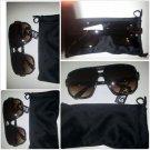 Men's Womens Unisex 80's Gazelle style glasses brown square LENS SUN GLASSES #2
