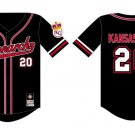 Kansas City Monarchs Negro League Jersey Black Red Kansas City Monarchs Jersey