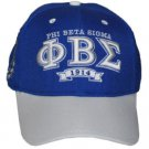 PHI BETA SIGMA BLUE WHITE FRATERNITY BASEBALL CAP PHI BETA SIGMA BALL CAP