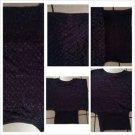 Women's Purple Gold Glitter casual sweater Lady's sleeveless night club Sweater