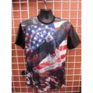 Sublimation USA EAGLE image short sleeve T-SHIRT Blue sublimationT shirt M-2X