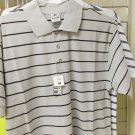 Black Gray stripe polo shirt by Pro Club stripe short sleeve polo shirt S-7X
