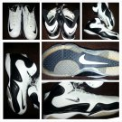 NIKE Zoom Merciless Black White Football shoees All Turf Nike cleats shoes 19 US