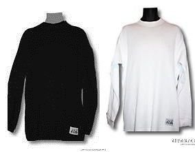 BLACK WHITE LONG SLEEVE THERMAL by PRO CLUB THERMO THERMAL T SHIRT S-7XL