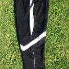 Black White soccer pants Gym track running jogging Pants bottoms Soccer pants XL