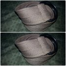 Tan Brown cargo twill belt Heavy duty cotton twill belt Unisex belt  34-36W