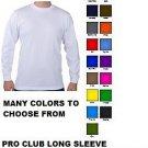 BLACK LONG SLEEVE T-SHIRT by PRO CLUB LONG SLEEVE CREW NECK T SHIRT S-3X 6PACK