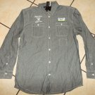 Imperious blue long sleeve button up shirt Indgio Blue long sleeve shirt XL