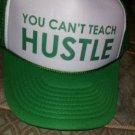 YOUCANTTEACHHUSTLE GREEN TRUCKER HAT YCTH MESH SNAP BACK TRUCKER HAT CAP